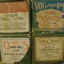 Player Piano Music Rolls with Boxes Ca. 1920's Lot of 8