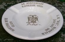 Masonic Commemorative Ceramic Ashtray Napoleon Ohio Ca. 1947