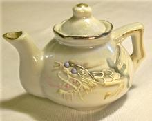 Moriage Dragonware Ceramic Toy Teapot 1920's-30's Japan