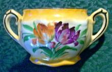 Czechoslovakian Art Deco Tulip Ceamic Sugar Bowl Bottom  Ca. 1930's NO LID