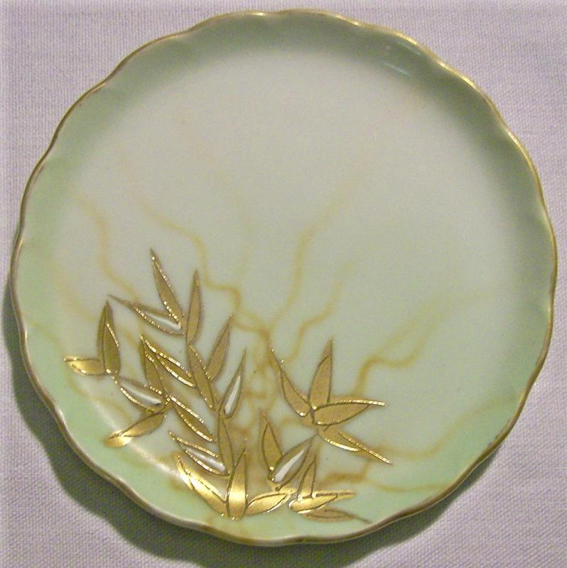 Limoges Porcelain Butter Pat 3 5/8