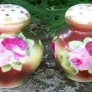 Bavarian Porcelain Salt & Pepper Shakers Hand-Painted Roses Ca. 1900 2.75