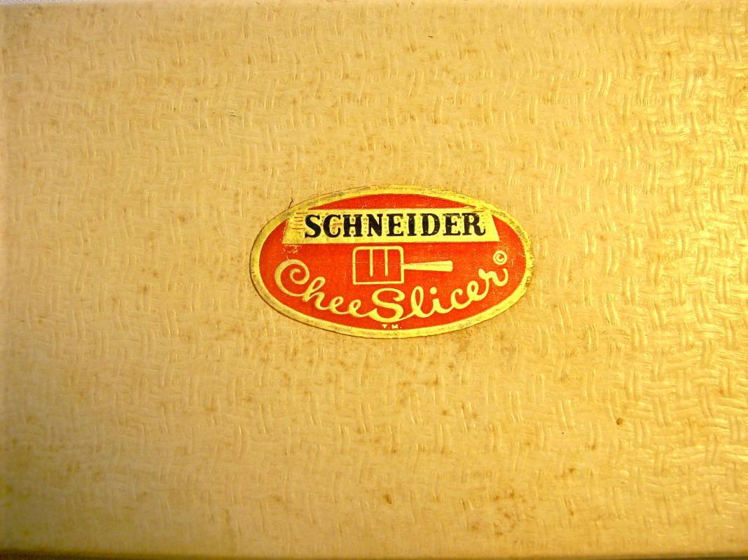 Schneider Green Bakelite/Catalin Cheese Slicer w/ Box & Brochure 1950's