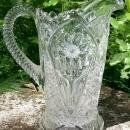 Imperial #474 Pitcher Cosmos 28 Oz. Clear 1910-29