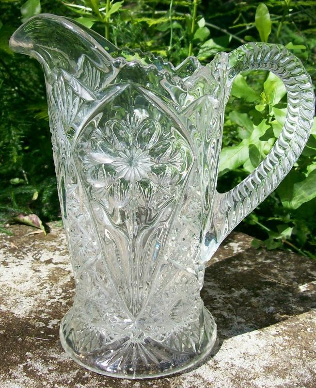 Imperial Glass #474 Cosmos Pitcher 16 Oz Clear 1950-84 7.5