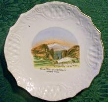 Colorado Souvenir Ceramic Plate Ca. 1900 Wheelock Weimar Germany