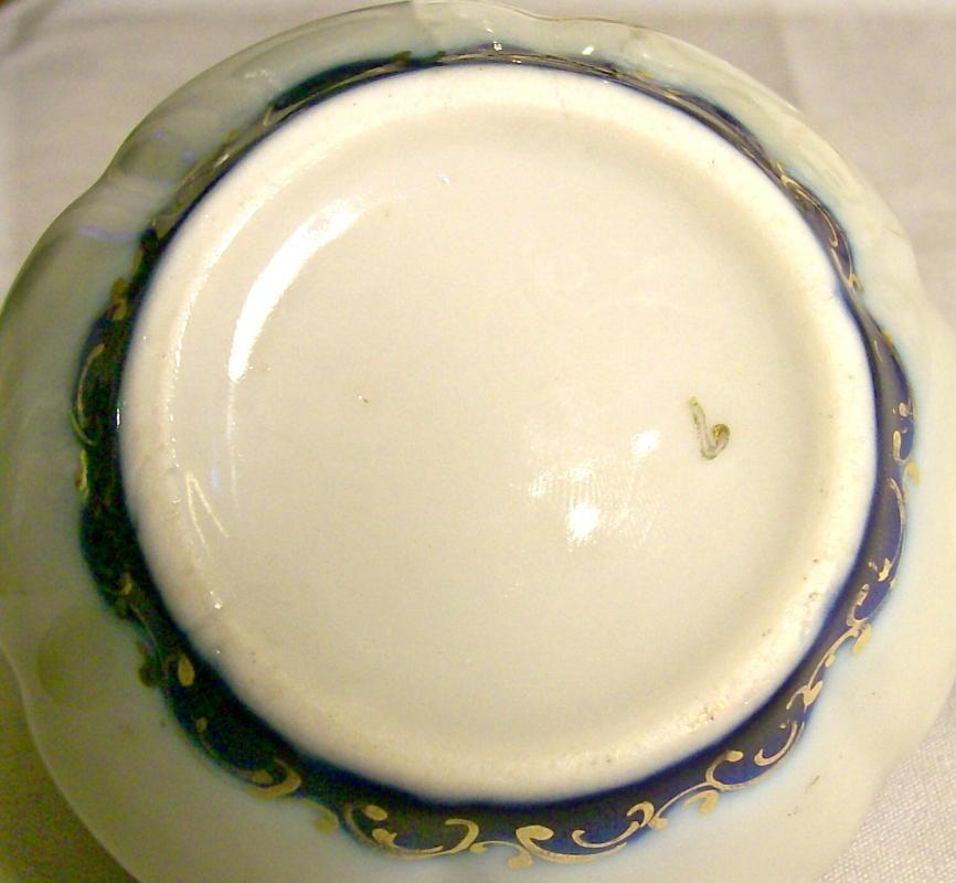 Nippon Cobalt-trimmed Ceramic Creamer Hand-Painted Roses & Gold