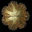 Vintage Miriam Haskell-Style Filigree Brooch/Pin Gold-Tone 1.75