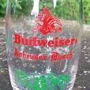 Budweiser Barrel Taster Glass Tumblers Set/4 1950s 3