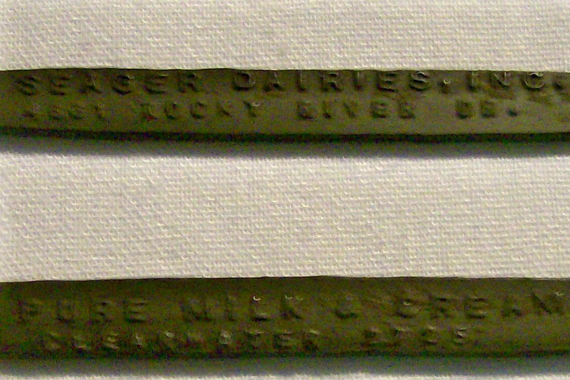 Seager Dairies/Cleveland Advertising Metal Mixing Spoon/Bottle Opener