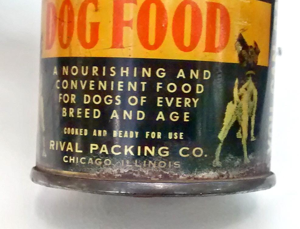 Rival Dog Food Tin Can Bank 1940s Advertising 2.75