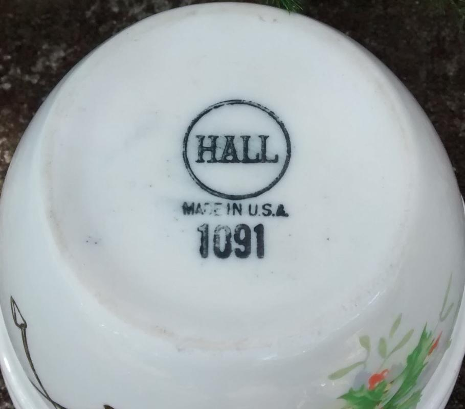 Keen's NYC Advertising Ceramic Plum Pudding Bowl Hall Holly