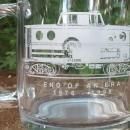Conrail Railroad Glass Mug End of An Era 1976-98 Trains