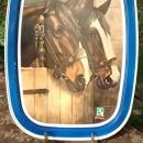 Strout Realty Advertising Metal Tray Tom & Jerry Horses