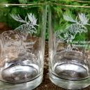 Loyal Order of Moose Membership Award Glass Tumbler Pair