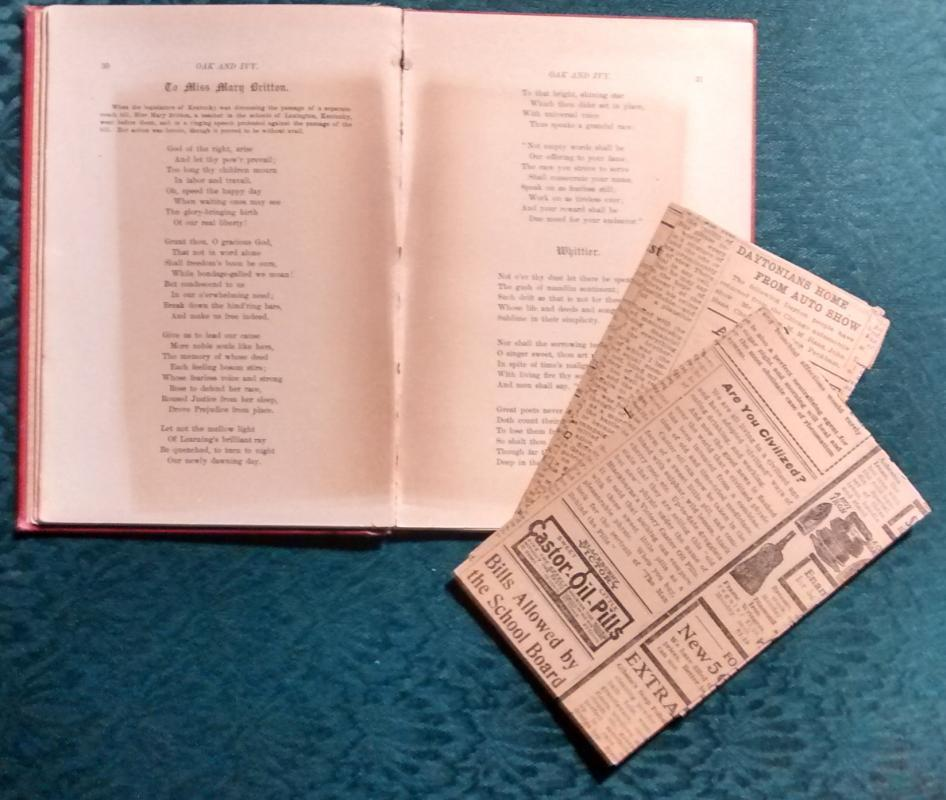 RARE Book Oak and Ivy by Paul Dunbar 1st Ed 1893 Red-Brn Cloth w/Extras Afr Am Poet