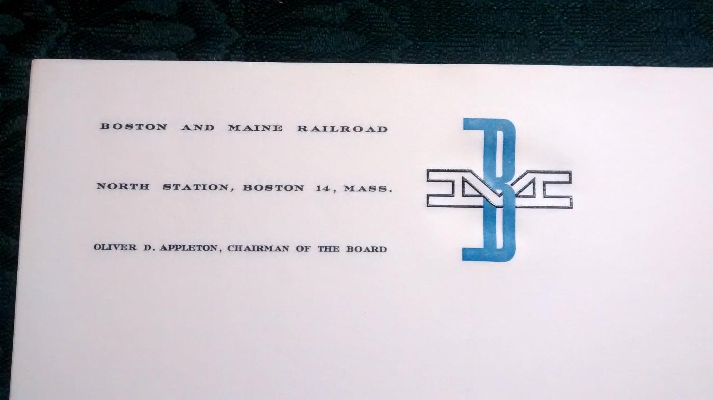 Boston & Maine Railroad Letterhead Paper Unused 15 Pieces