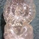 Vintage Glass Lion Bank 1974 Vandor 7.25