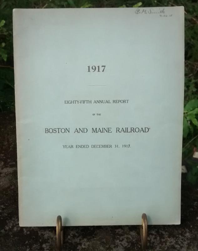 Boston & Maine Railroad Annual Report 85th 1917