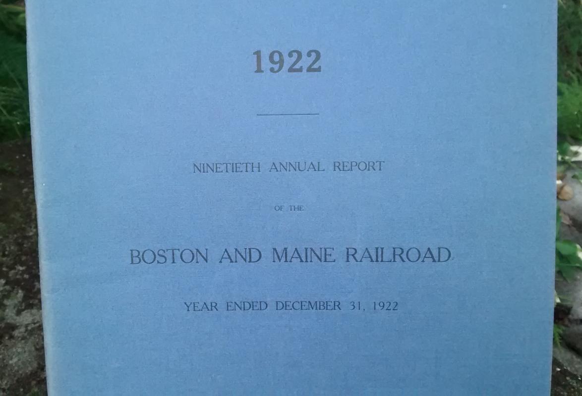 Boston & Maine Railroad Annual Report 90th 1922