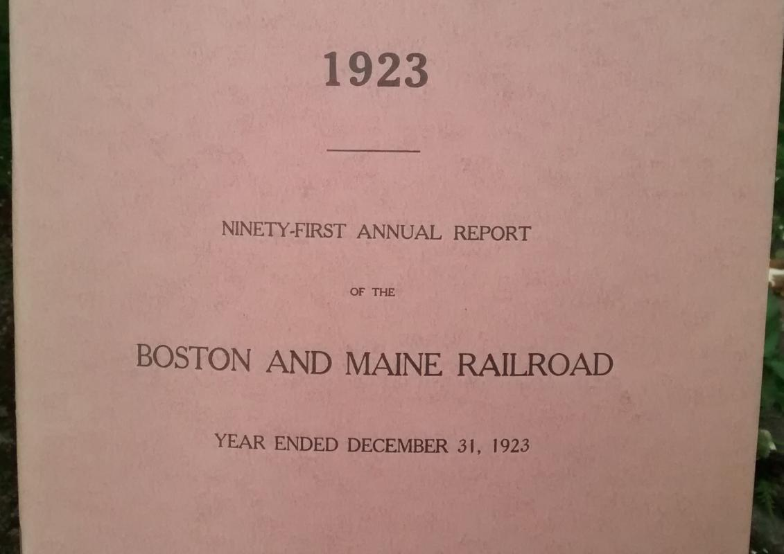 Boston & Maine Railroad Annual Report 91st 1923