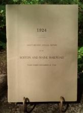 Boston & Maine Railroad Annual Report 92nd 1924