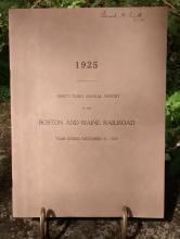 Boston & Maine Railroad Annual Report 93rd 1925