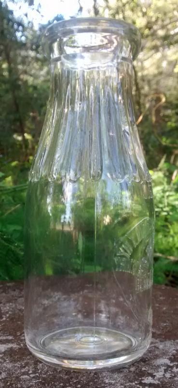 Berea College Dairy Bottle Pint 1930s Embossed Kentucky