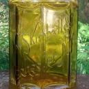 William S. Kimball Tobacco Jar/Humidor Amber Glass Ca. 1900