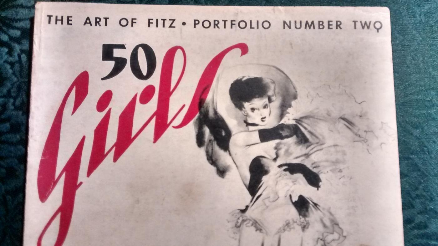 The Art of Fritz Portfolio No. 2/ 50 Girls by Fritz 1943 Nude Drawings Hollywood Pin-Up Art