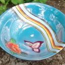 Noritake Art Deco Butterfly & Rainbow Bowl 1920s-30s