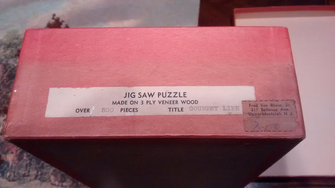 Wood Jigsaw Puzzle w/Box 1930s