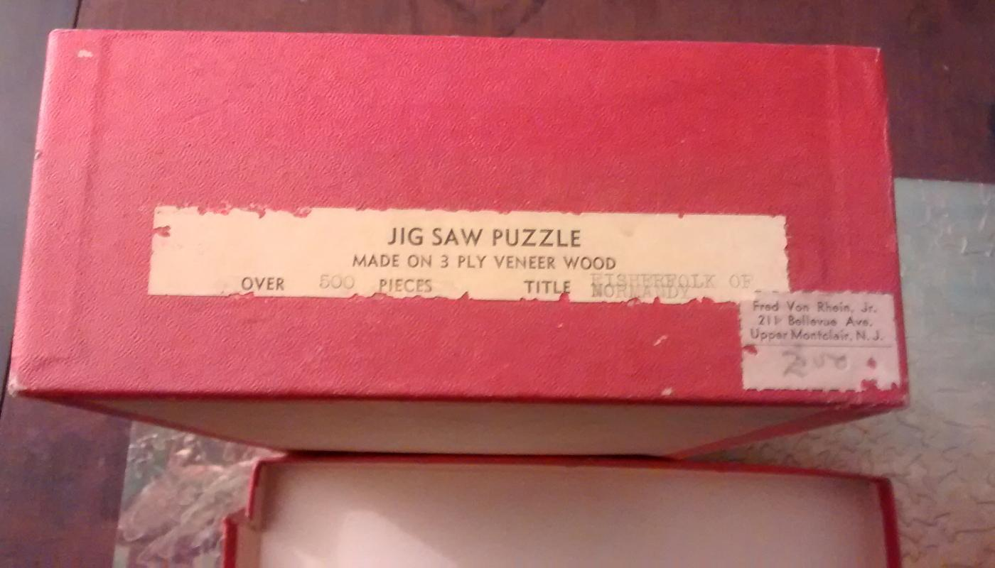 Wood Jigsaw Puzzle w/Box 1930s