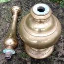Antique India Brass Rose Water Sprinkler Bottle 1920s-30s