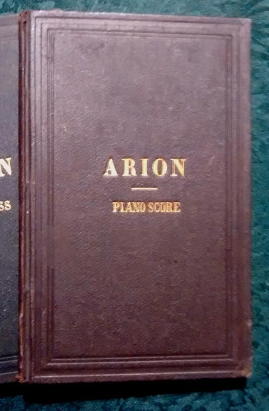 Acapella Arion Collection of Songs for Male Voices 4 Volumes 1862-89