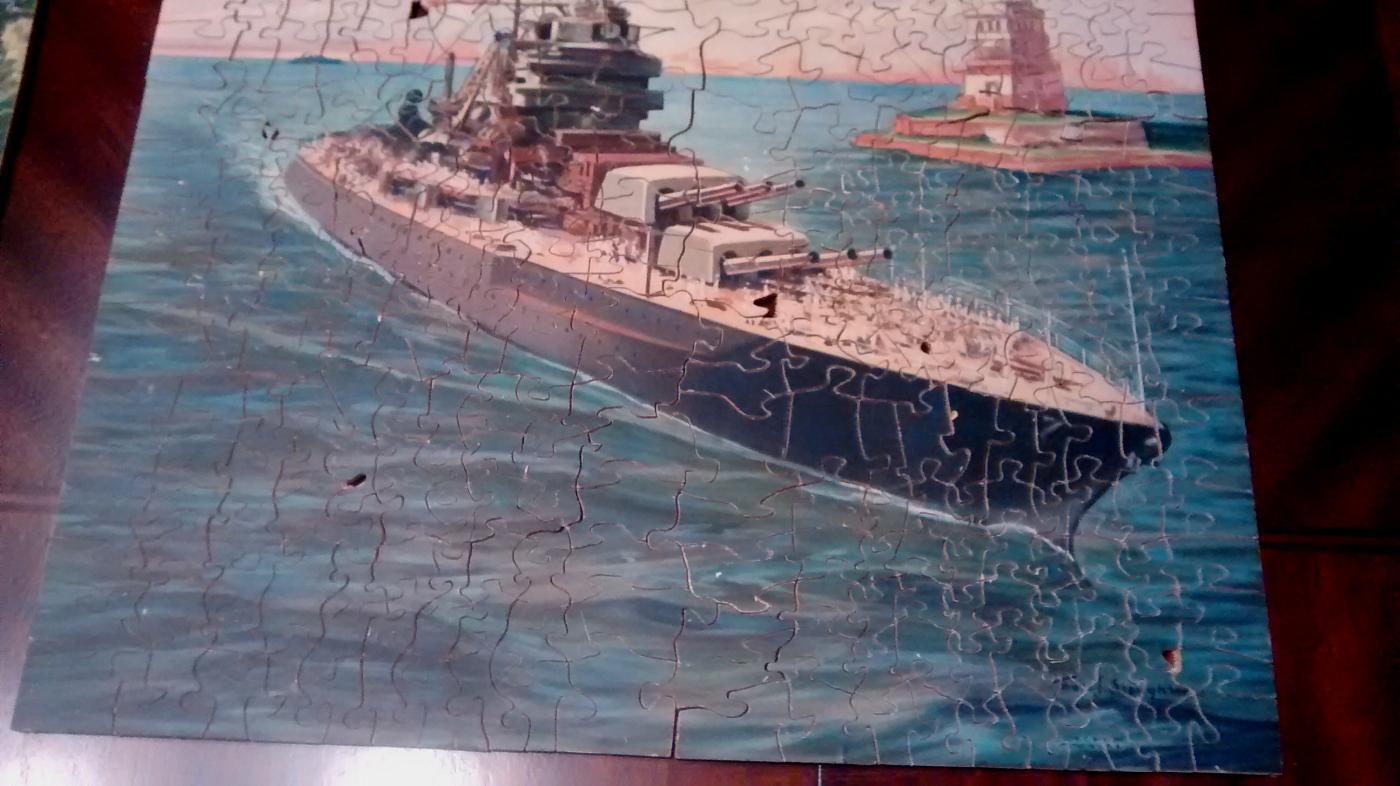 Wood Jigsaw Puzzle w/Box Ca. 1941