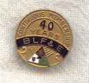 Railroad Brotherhood of Locomotive Firemen & Enginemen Fraternal Pin