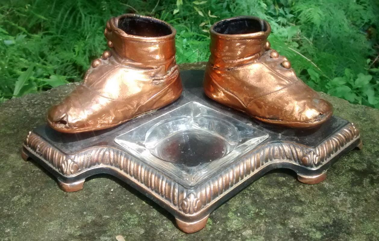 Vintage Bron Shoe Co. Baby Shoe Ashtray Holder #86