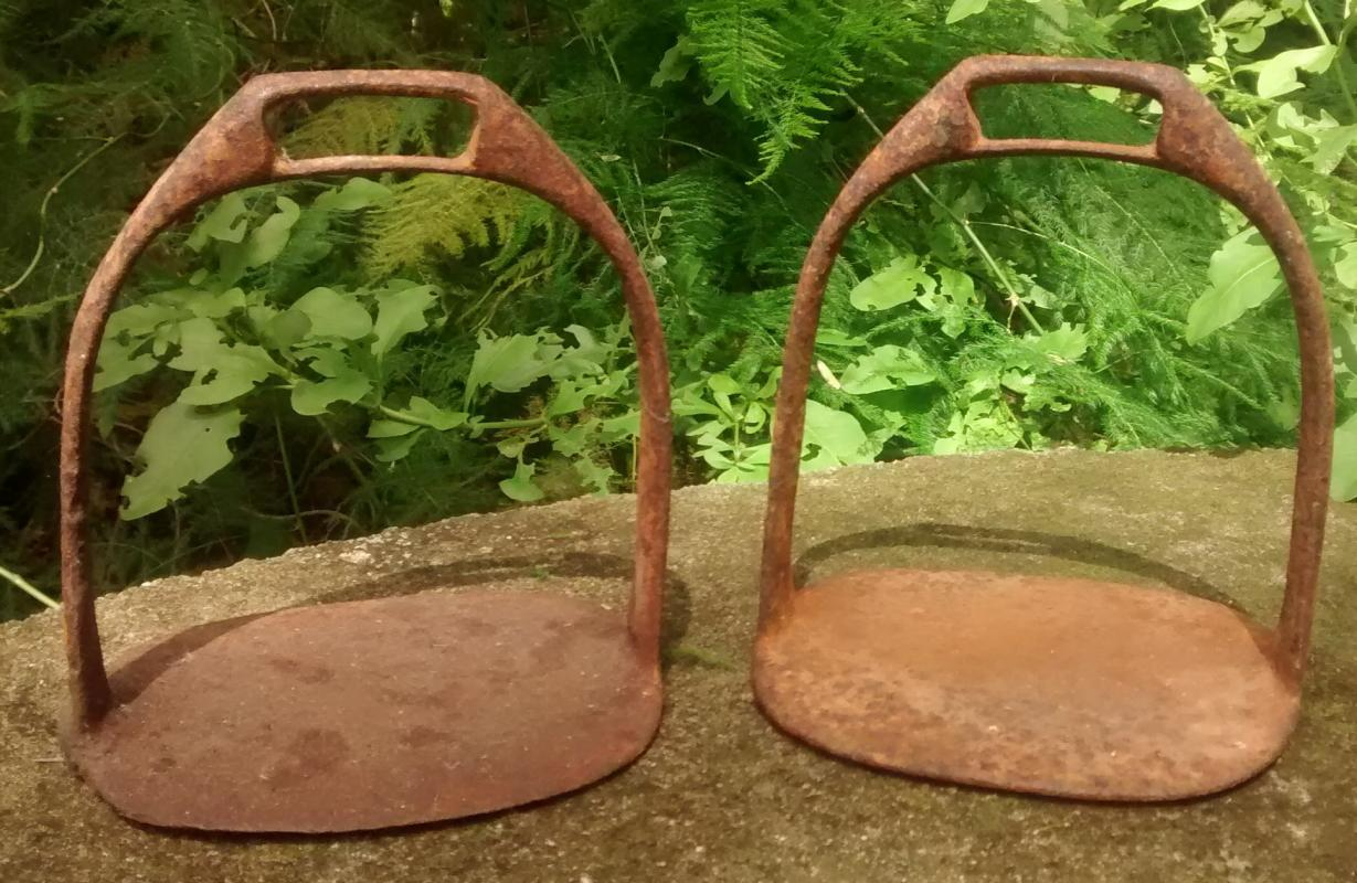 Antique Iron Horse Stirrups Early 1900s