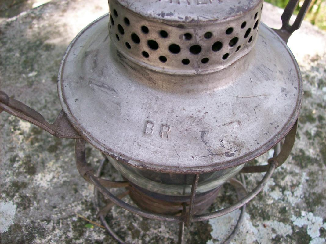Burlington Route Railroad Lantern Ca. 1939 Dressel Original Globe