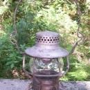 Burlington Route Railroad Lantern Ca. 1939 Dressel Original Globe