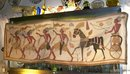 1920's Art Deco Egyptian Cotton Applique Tapestry Chariot with Horse & Soldiers