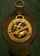 British Horse Brass with Leather