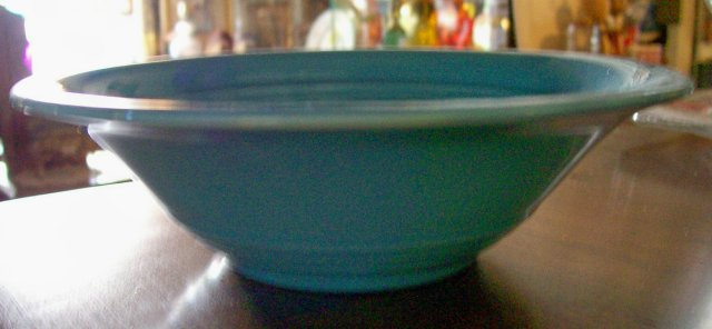 Harlequin Turquoise  36s Oatmeal Bowl