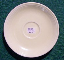 Laughlin Fiesta Ceramic Demitasse Saucer Original Ivory 5