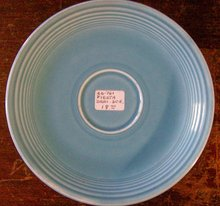 Laughlin Fiesta Ceramic Demitasse Saucer Original Turquoise 5