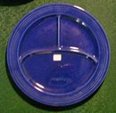 Laughlin Fiesta Grill Plate Original Cobalt Compartment Plate