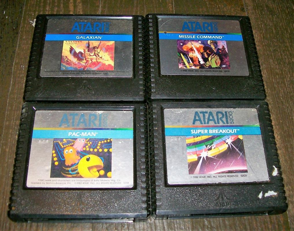 Vintage Atari 5200 Games Set/4: 5202/5203/5206/5208 Cartridges Only