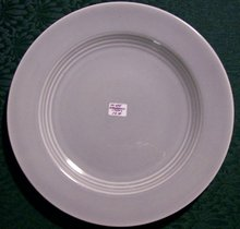 Harlequin Gray Dinner Plate: 1950's