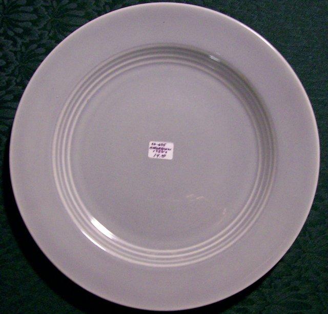 Harlequin Gray Dinner Plate: 1950's